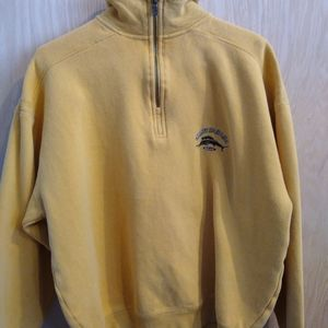 Vintage Tommy Bahama 1/4 zip mustard shirt sweater